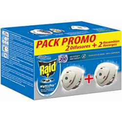 Chollo - Pack 2x Raid Eléctrico Night & Day (2 difusores + 2 recambios)