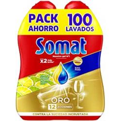 Chollo - Pack 2x Somat Oro Lima y Limón Gel Lavavajillas (100 lavados)