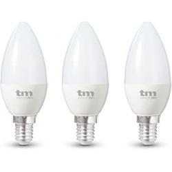Chollo - Pack 3 Bombillas LED Vela C37 TM Electron 6W E14