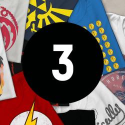 Chollo - Pack 3 Camisetas Frikis Misteriosas