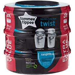 Chollo - Pack 3 Recambios contenedor de pañales Tommee Tippee Twist & Click Sangenic