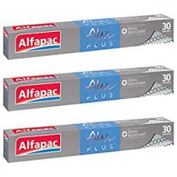 Chollo - Pack 3 Rollos de Papel de Aluminio Alfapac Alu Plus Gofrado Extra Resistente (3x30m)