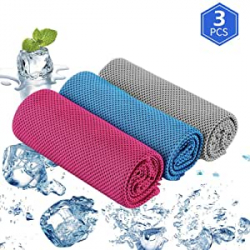 Chollo - Pack 3 Toallas Microfibra de enfriamiento Ajcoflt