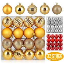Chollo - Cupón -50% para Packs de 32 Bolas de Navidad