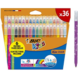 Chollo - Pack 36x BIC Kids Couleur Rotuladores ultralavables