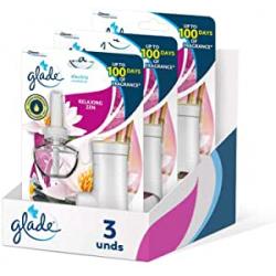 Chollo - Pack 3x Ambientador eléctrico Glade Aceites Esenciales Relaxing Zen (difusor + recambio 20ml)
