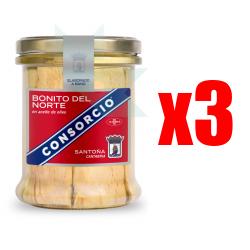 Chollo - Pack 3x Bonito del Norte en aceite de oliva Consorcio (3x400g)