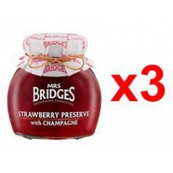 Chollo - Pack 3x  Mermelada  Mrs Bridges de Frambuesa y Champagne (3x340g)