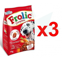 Chollo - Pack 3x Pienso para perros Frolic Complete (3x4kg)