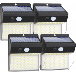 Chollo - Pack de 4 Apliques solares de exteriores Litogo 4x172LED - MY-WS01-EU