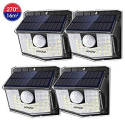 Chollo - Pack 4 Focos Solares Mpow con Sensor de Movimiento