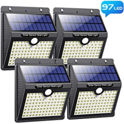 Chollo - Pack 4 Focos Solares Pxwaxpy con Sensor de Movimiento (4x97LED)