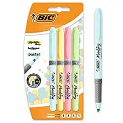 Chollo - Pack 4 Marcadores fluorescentes BIC Pastel Highlighter
