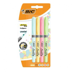 Chollo - Pack 4 Marcadores fluorescentes BIC Pastel Highlighter