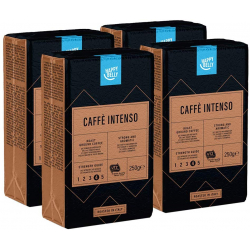 Chollo - Pack 4 Paquetes Café Molido Happy Belly Intenso (4x250gr)