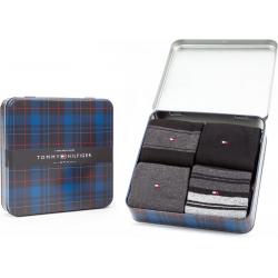 Chollo - Pack de 4 Pares de calcetines Tommy Hilfiger Black en caja de regalo - 100000845003