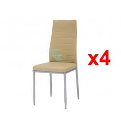 Chollo - Pack 4 sillas de cocina Cribel Queen