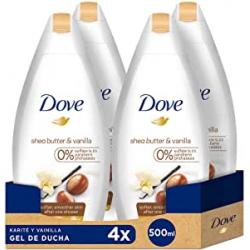Chollo - Pack 4x Gel de ducha nutritivo Dove Karité & Vainilla 4x500ml