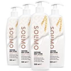 Chollo - Pack 4x Loción corporal calmante Solimo con extracto de avena (4x500ml)