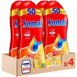 Chollo - Pack 4x Somat Oro Gel Lavavajillas con vinagre (200 Lavados)
