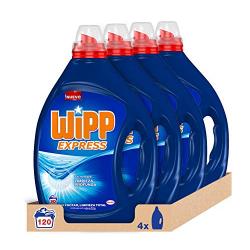 Chollo - Pack 4x Wipp Express Detergente Líquido Azul (120 Lavados)