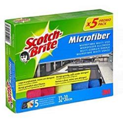 Chollo - Pack 5 Bayetas de microfibra Scotch-Brite 3M - 7000091529