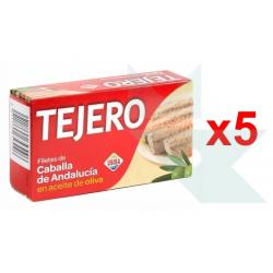 Chollo - Pack 5 Latas de Filetes de Caballa IGP de Andalucía en Aceite de Oliva Tejero Usisa (5x120g)
