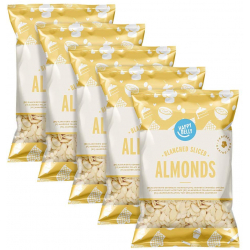 Chollo - Pack 5 Paquetes Almendras Peladas Laminadas Happy Belly (5x200g)
