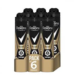 Chollo - Pack 6 Desodorantes Rexona Football Edition Laliga (6x200ml)
