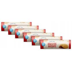 Chollo - Pack 6 paquetes Galletas Digestive sin azúcar Happy Belly 6x400g
