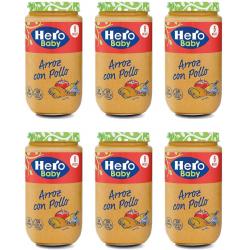 Chollo - Pack 6 Potitos Hero Baby Arroz con Pollo (6x235g)