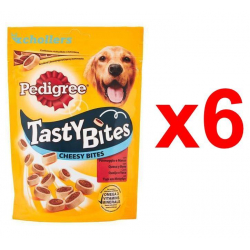 Chollo - Pack 6 Snacks Pedigree Tasty Bites Cheesy (6x140g)