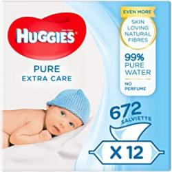 Chollo - Pack 672 Toallitas para bebé Huggies Pure Extra Care 12x 56 toallitas