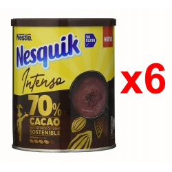 Chollo - Pack 6x Cacao soluble instantáneo Nesquik Intenso 70% Cacao 300g