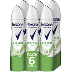 Chollo - Pack 6x Desodorante antitranspirante Rexona Aloe Vera Fresh 6x200ml