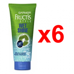 Chollo - Pack 6x Gel fijador Garnier Fructis Style Wet Shine Efecto Mojado 250g
