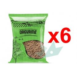 Chollo - Pack 6x Lentejas verdes Orgurmé Taste of Nature (2.4Kg)
