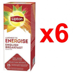 Chollo - Pack 6x Lipton Té Negro English Breakfast (6x50g)