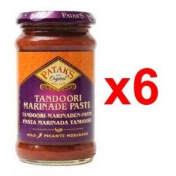 Pack 6x Pasta marinada tandoori Patak's Picante moderado 312g