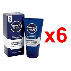 Chollo - Pack 6x Protector Hidratante Nivea Men Protege & Cuida con Aloe Vera (6x75ml)