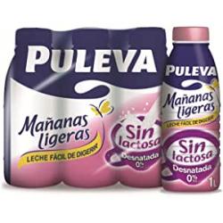 Chollo - Pack 6x Leche Sin Lactosa Desnatada Puleva Mañanas Ligeras (6x 1L)