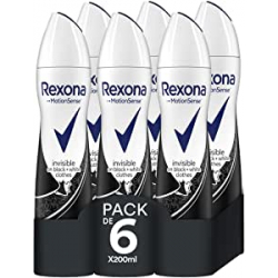 Chollo - Pack 6x Rexona Invisible On Black&White Clothes (6x200ml)