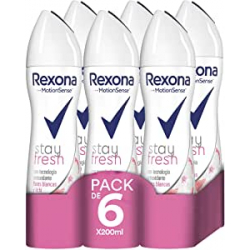 Chollo - Pack 6x Rexona Stay Fresh Flores blancas & Lichi Desodorante (6x200ml)