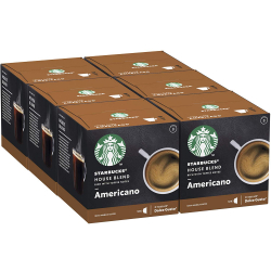 Chollo - Pack 72 Cápsulas Starbucks Americano House Blend Nescafé Dolce Gusto (6x12 cápsulas)
