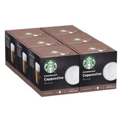 Chollo - Pack 72 Cápsulas Starbucks Cappuccino Nescafé Dolce Gusto (6x12 cápsulas)