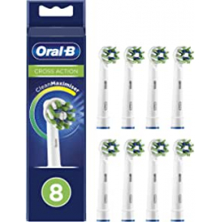 Chollo - Pack 8 Cabezales de recambio Oral-B CrossAction CleanMaximiser