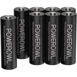 Chollo - Pack 8 Pilas Recargables Powerowl NiMH AA 2800mAh