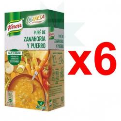 Chollo - Pack 6x Puré Knorr Ligeresa de Zanahoria y Puerro (6x500ml)