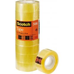 Chollo - Pack 8 Rollos Cinta adhesiva Scotch 508 (19mmx33m)