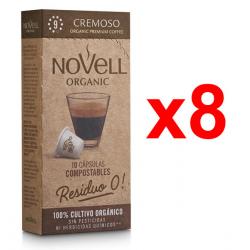 Chollo - Pack 80 Cápsulas café ecológico Novell Cremoso para Nespresso